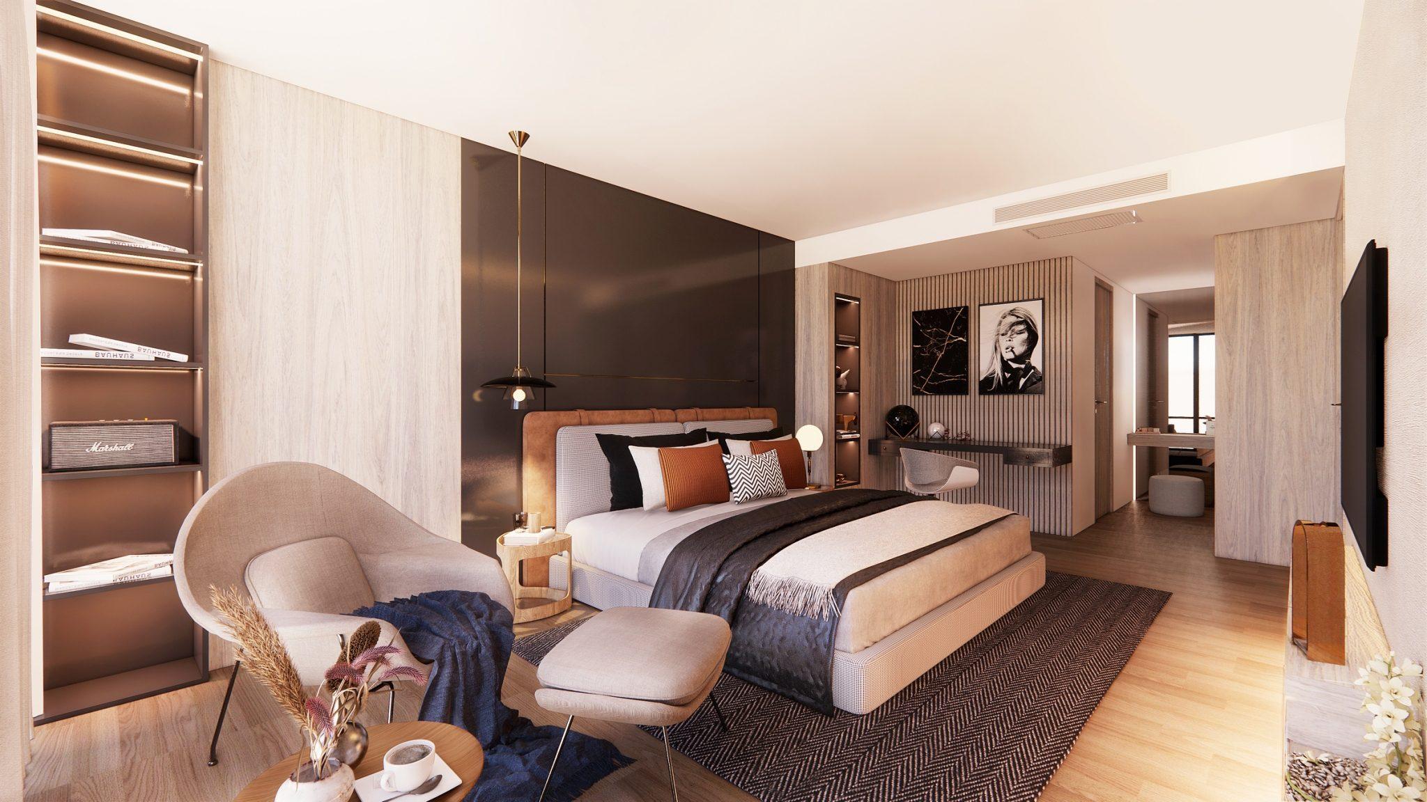 Bedroom interior design by Instyle Deco Paris