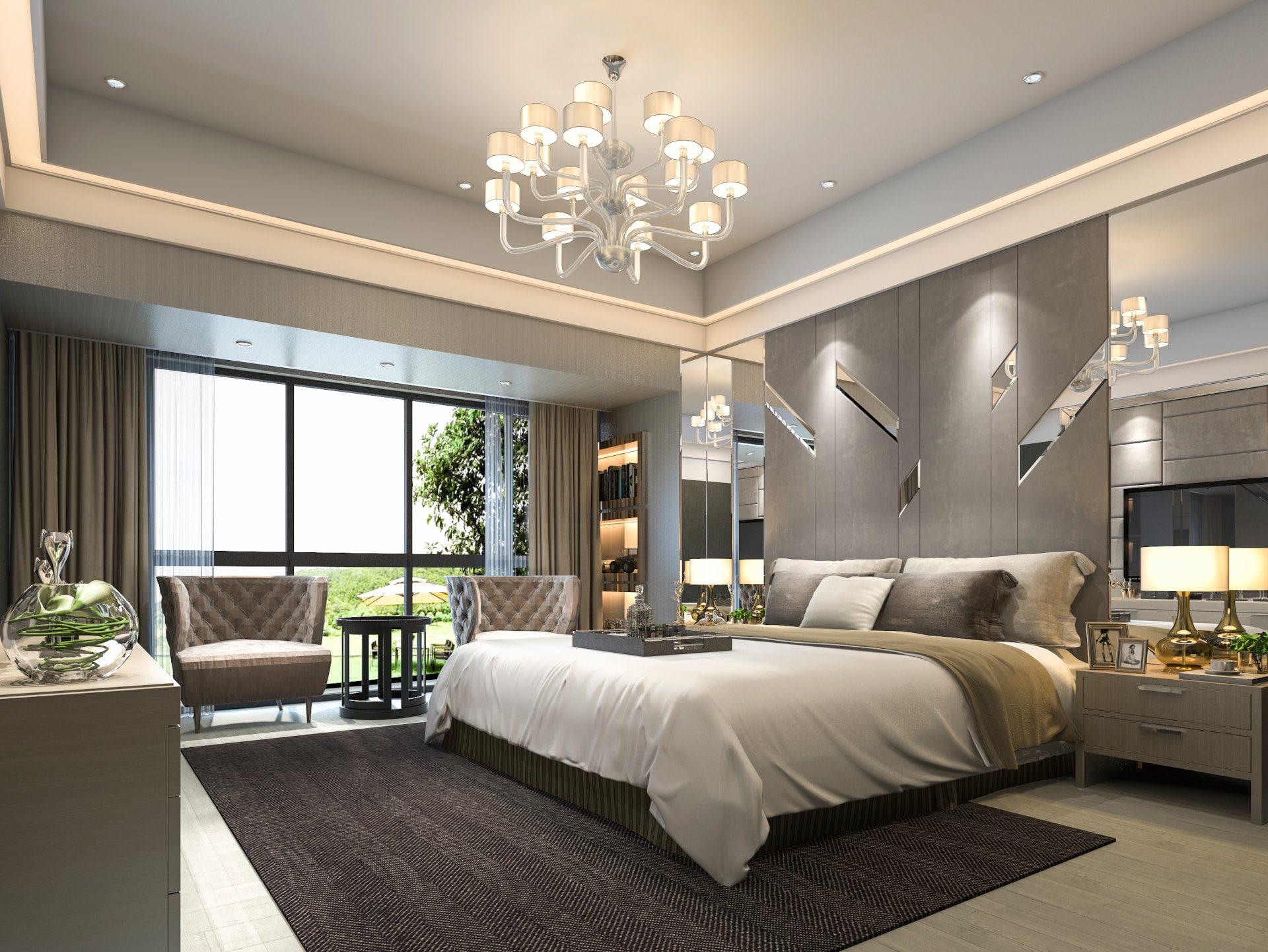 Rendering of hotel suite
