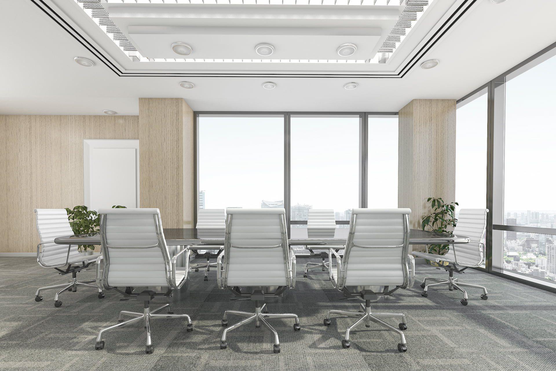rendering of meeting room in office