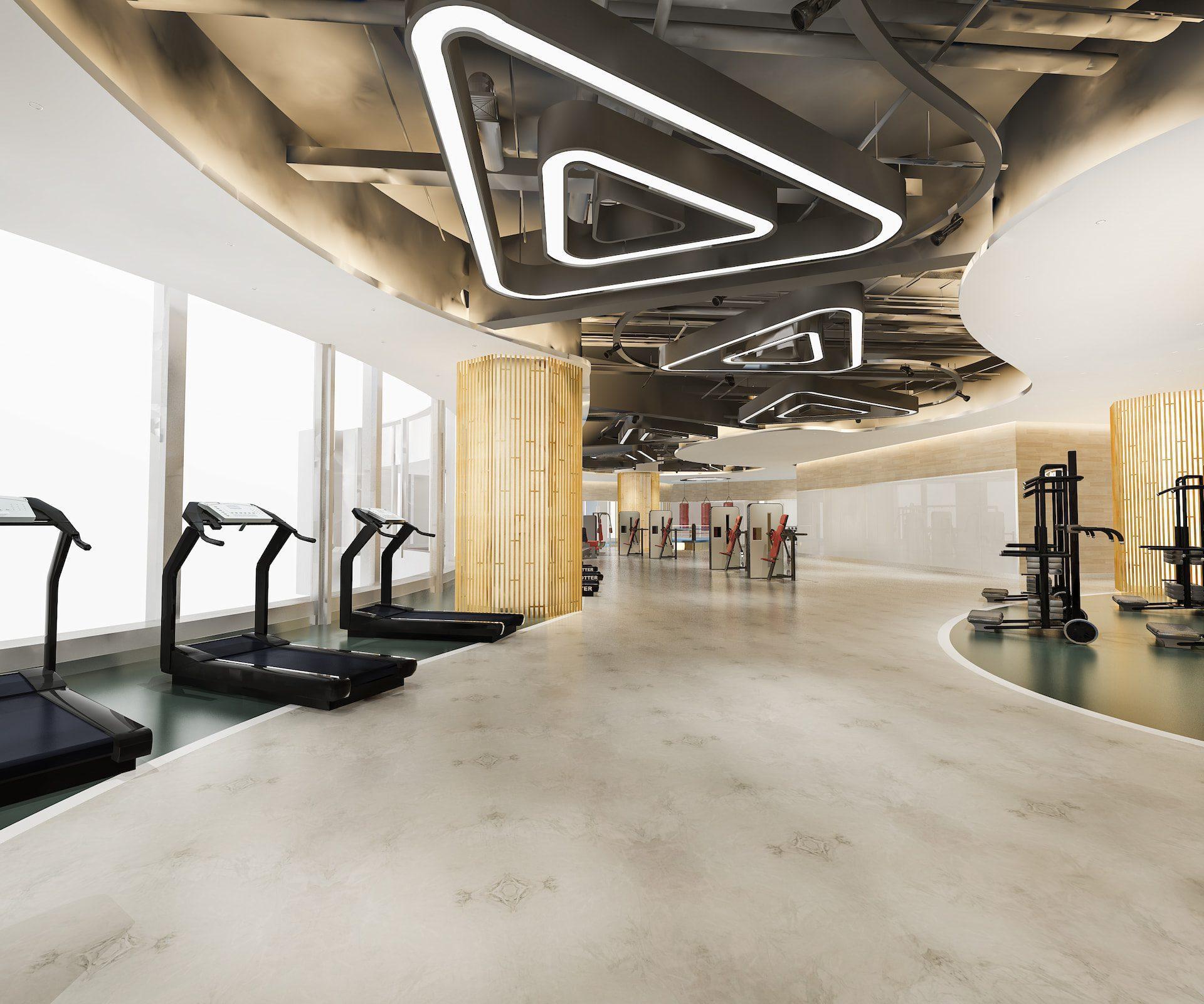 rendering of hotel gym